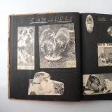 03 2 Vintage 1937 Scrap Books Albums with Stickers Animal Dogs Cats Useless Eustace.jpg