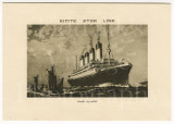 White Star Line RMS Olympic Genuine Abstract of Log Card 1933 with Envelope
