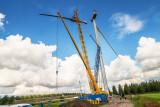 Opbouw windmolen Windmolenpark Autena