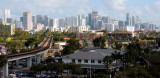 2017 - Downtown Miami and the Brickell area from the top of the University of Miami Hospital parking garage