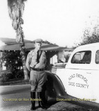 Date TBD - Charles Burton Robbins Sr. and his Dade County Road Patrol car