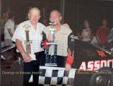 2004 - Herb Tillman, winner of Hialeah Speedway's 1st race in July 1954, with unidentified last winner at the last race in 2004