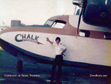 Mid-70's - Ernie Filippini, pilot at Chalk's International Airlines, and a Grumman Mallard at Watson Island
