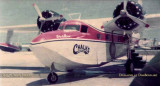 1976 - Chalk's International Airlines Mallard painted in Bicentennial colors at Watson Island