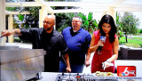 May 2015 - my buddy Sef The Burger Beast Gonzalez (center) during burgers cooking on Channel 6 South Florida
