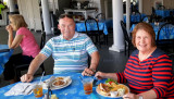 September 2016 - Don and Karen Boyd about to dine on delicious early dinners at the Kentmorr Restaurant and Crab House