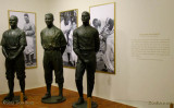 June 2015 - statues of Lou Gehring, Jackie Robinson and Roberto Clemente at the National Baseball Hall of Fame Museum
