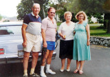 Summer 1986 - Jim Criswell, Don Boyd, Esther Criswell and pregnant Karen Criswell Boyd in Brentwood, Tennessee