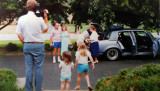 1986 - brother Jim videotaping, Don and Karen Boyd, nieces Katie and Lisa Criswell, and Jim and Esther Criswell in background