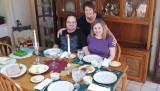 November 2015 - Karen presiding over Thanksgiving Day dinner at our home with Jonny and Donna