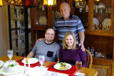 December 2016 - Don with Jon and Donna at Christmas dinner at our home
