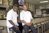 May 2017 - Henderson Junior Biggers and Jack Frisch at Stephen's Deli in east Hialeah