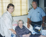 August 1999 - Ginny and Ray Lanners with Aunt Beatrice after Aunt Norma passed away