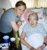 August 1999 - Karen Dawn with Aunt Beatrice right after Aunt Norma passed away