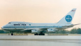 1986 - Pan Am B747-SP21 N533PA Clipper New Horizons Flight 50 pushed back from the gate at Miami International Airport