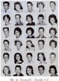 1962 - Grade 8-4 at Palm Springs Junior High - Mr. Stansell