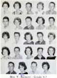 1962 - Grade 8-7 at Palm Springs Junior High - Mrs. Barnett
