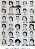 1962 - Grade 8-9 at Palm Springs Junior High - Mrs. Carleton