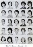1962 - Grade 8-10 at Palm Springs Junior High - Mr. Tom Heaps
