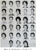 1962 - Grade 8-11 at Palm Springs Junior High - Miss Henderson