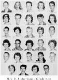 1962 - Grade 8-12 at Palm Springs Junior High - Mrs Richardson