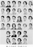 1962 - Grade 8-14 at Palm Springs Junior High - Mr. Schiff