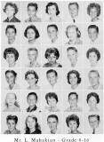 1962 - Grade 8-16 at Palm Springs Junior High - Mr. Leon Mahakian