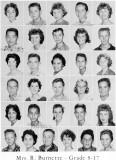 1962 - Grade 8-17 at Palm Springs Junior High - Mrs. Burnette