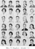 1962 - Grade 7-1 at Palm Springs Junior High - Mrs. Englert