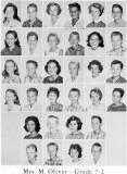 1962 - Grade 7-2 at Palm Springs Junior High - Mrs. Oliver