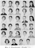 1962 - Grade 7-3 at Palm Springs Junior High - Mrs. Hutchison