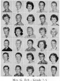 1962 - Grade 7-5 at Palm Springs Junior High - Mrs. Erb