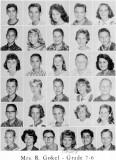 1962 - Grade 7-6 at Palm Springs Junior High - Mrs. Gokel