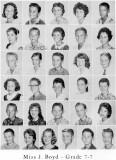 1962 - Grade 7-7 at Palm Springs Junior High - Miss Boyd