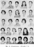 1962 - Grade 7-8 at Palm Springs Junior High - Mr. Gutierrez
