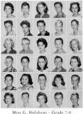 1962 - Grade 7-9 at Palm Springs Junior High - Mrs. Holzbaur