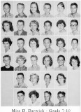 1962 - Grade 7-10 at Palm Springs Junior High - Miss Darwick
