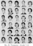 1962 - Grade 7-11 at Palm Springs Junior High - Mrs. Timmony