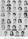 1962 - Grade 7-12 at Palm Springs Junior High - Miss Conger