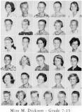 1962 - Grade 7-13 at Palm Springs Junior High - Miss Dickson