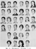 1962 - Grade 7-14 at Palm Springs Junior High - Mr. Detmers