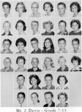 1962 - Grade 7-15 at Palm Springs Junior High - Mr. Davis