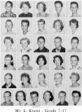 1962 - Grade 7-17 at Palm Springs Junior High - Mr. Krenz
