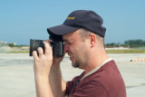 September 2003 - Kev Cook photographing aircraft on the ramp at Miami International Airport