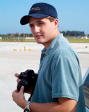 September 2003 - Marc Hookerman photographing aircraft on the ramp at Miami International Airport