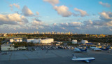 December 2009 - the Miami skyline at sunset as seen from Miami International Airport