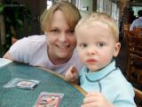 April 2007 - Karen Dawn and Kyler at the Islamorada Fish Company