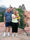 July 2007 - Don and Karen Boyd with their grandson Kyler at the Garden of the Gods