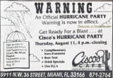 1990's - ad for Cisco's Cafe on NW 36th Street in Virginia Gardens