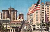 1950's - looking west on Flagler Street from Biscayne Boulevard in downtown Miami